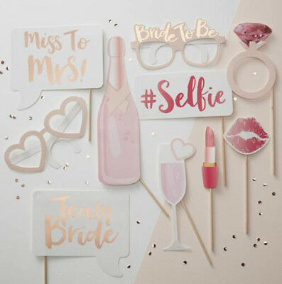 2 Set 10pcs Hen Party Photo Booth Props Team Bride Kit Wedding Selfie Accessorie