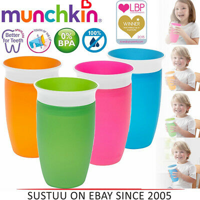 1Pcs Sippy Toddler Training 360 Degree Trainer Cup Anti Spill Chew Proof Miracle