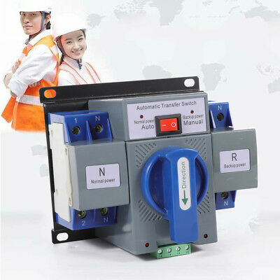 Professional Dual Power Automatic transfer switch 2P 63A ATS 110V 150x137x118mm