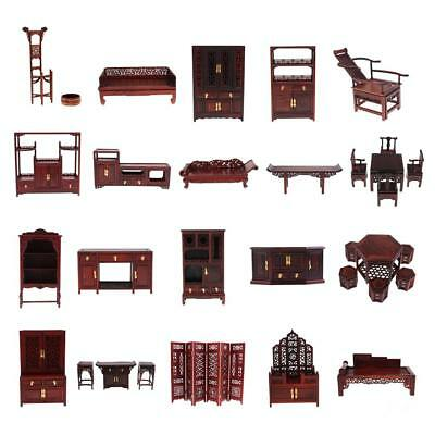 1/6 Rosewood Furniture Model for Hot Toys Action Figures Blythe Barbie Dollhouse