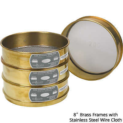 """Advantech Manufacturing 8""""-dia. Brass Frame Testing Sieve with Stainless Stee..."""