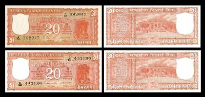 2x 1-10000 Rupees India Issue ND 12 1917-1930 - 24 Banknotes