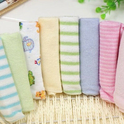 8 Pack Baby Cotton Square Muslin Burp Small Cloth Bib Comforter Nappy Wipe