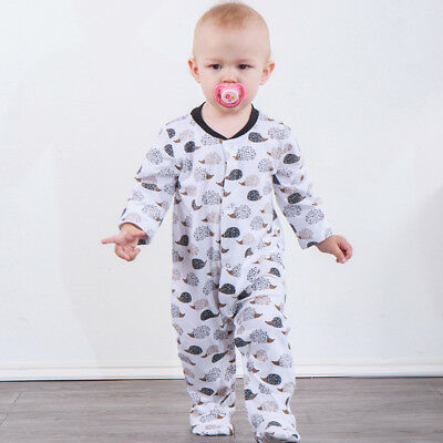 UK Stock Kids Baby Boy Girls Romper Hedgehog Jumpsuit Bodysuit Clothes Outfits
