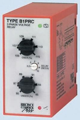 Broyce Control Phase, Voltage Monitoring Relay with SPDT Contacts, 3 Phase, 400