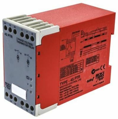 Broyce Control Phase, Temperature Monitoring Relay with DPST Contacts, 3 Phase,