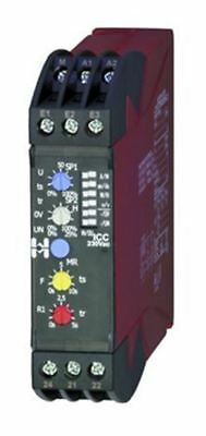 Hiquel Current Monitoring Relay with DPDT Contacts, 1 Phase, 24 V ac