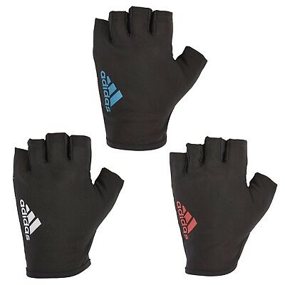 Adidas Half Finger Essential Weight Lifting Gloves Training Gym Exercise Fitness