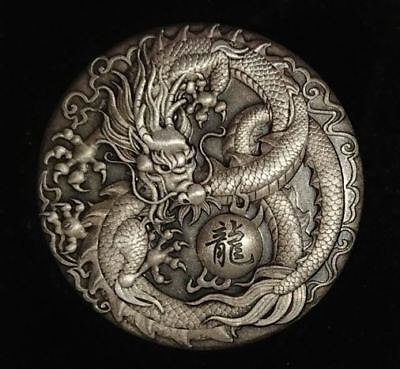 Tuvalu 2017 $2 Mythical Creatures - Dragon 2 oz Antique Silver Coin SUPERHIT!