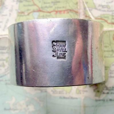 c1920 Original Emmigrant Ship SHAW SAVILL LINE silver plated Napkin Ring No 297