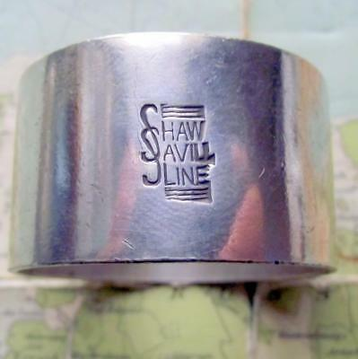 c1920 Original Emmigrant Ship SHAW SAVILL LINE silver plated Napkin Ring No 180