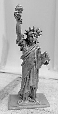 """Unmarked PEWTER Statue of Liberty Souvenir Miniature 2 3/4"""""""