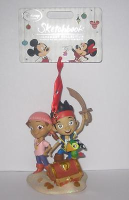 Disney Store Jake & The Neverland Pirates Sketchbook Christmas Ornament 2014 New
