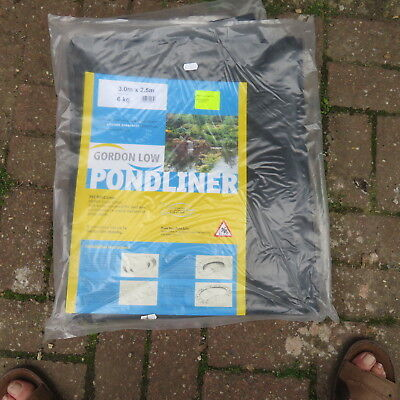 GORDON LOW 0.5mm PVC 2.5 m  X 3 m POND LINER new old stock