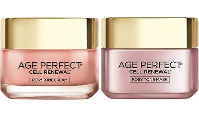 LOreal Paris Age Perfect Cell Renewal Rosy Tone Moisturizer and Mask Set 1.7 oz
