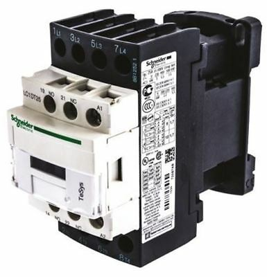 Schneider Electric Tesys D LC1D 4 Pole Contactor, 4NO, 25 A, 24 V ac Coil