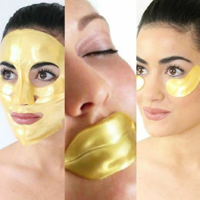 Gold Collagen Bio Crystal Mask for Face Facial Eye & Lip Anti Ageing Masks New