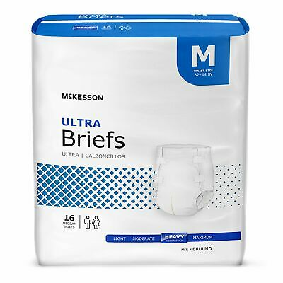 McKesson HEAVY Absorbency Adult Diaper Brief MEDIUM Contoured BRULMD 96/Case
