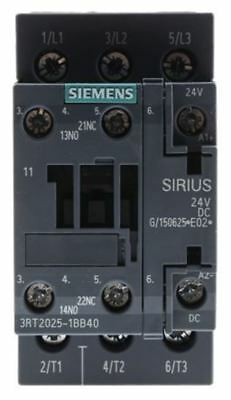 Siemens Sirius Innovation 3RT2 3 Pole Contactor, 3NO, 16 A, 7.5 kW (AC3), 24 V d