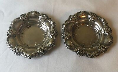 Pair of Vintage 1958 Gorham Sterling Silver 816 Repousse Berry Bowls 174g Total