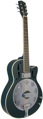 Ashbury AR-38 ELECTRO RESONATOR GUITAR with pickup and cutaway. At Hobgoblin