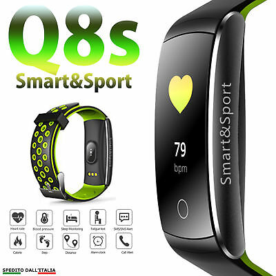 🌟 Cardiofrequenzimetro Tracker Orologio Smartwatch Fitness Sport Android Q8S G