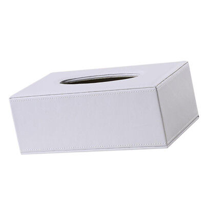 Decorative White Leather Napkin Holder Shatterproof Tissue Box For Kitchen