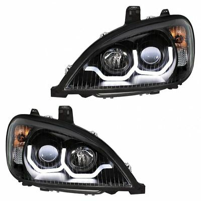 Freightliner Columbia Blackout Projection Headlight Pair With LED Bar 1996+