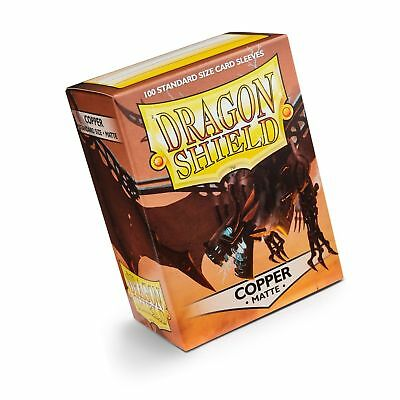 Dragon Shield Matte Copper 100 Deck Protective Sleeves