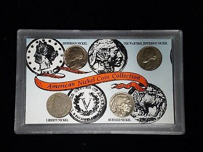 American Nickel Coin Collection Jefferson, Wartime, Buffalo, Liberty (otb0001)