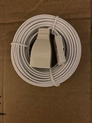 NEW 5m BT Landline Telephone Extension Cable Lead for Phone Fax Modem Broadband