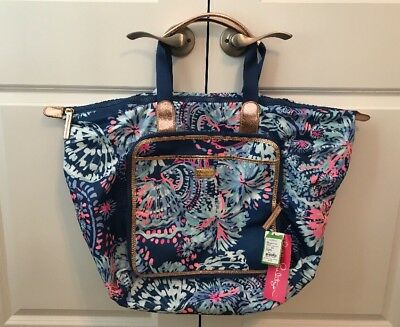 d469d11805 Lilly Pulitzer NWT Wanderlust Packable Travel Tote Deep Indigo Gypsea Girl   138