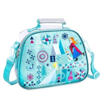 Disney Store Frozen Elsa Anna & Olaf Insulated Lunch Box Tote Bag New