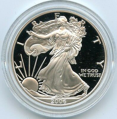 2006 Silver American Eagle One Dollar PROOF Coin 1 oz - West Point - U.S. Mint