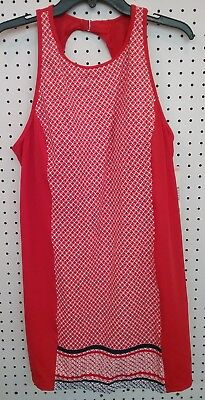 79dc07f7821 NEW WOMENS TROPICAL Escape Red Open Back Swimsuit Cover Up Dress ...