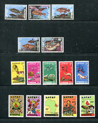 Ethiopia, Ten 1978 Issues, See Description, Mnh (Id7660)