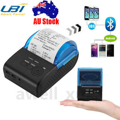 Mini Wireless Bluetooth 58mm Barcode POS Thermal Receipt Printer for iOS Android