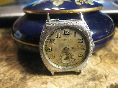 Vintage Bulova  Art Deco Man's Watch-Model-10An
