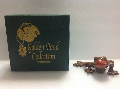 """Golden Pond Collection By Green Tree Ceramic Frog 2"""" High & 4.5"""" Wide"""