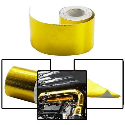 50mm * 5m Roll Adhesive Reflective Gold High Temperature Heat Shield Wrap Tape