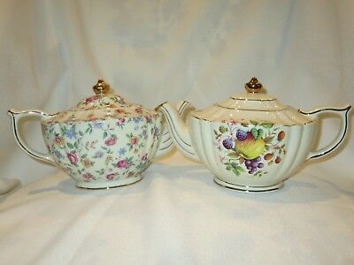 James Sadler England VTG TEAPOT LOT OF 2 Collectible Chintz and 2291 F Beautiful