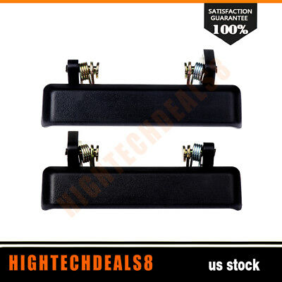 2x Front Left & Right Side Exterior Outside Black Door Handle For Suzuki Samurai