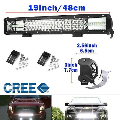19 inch CREE LED Light Bar 5D Len Spot Flood Offroad 4x4 Work Driving Bar 12V 24