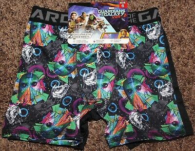 NEW boy GUARDIANS of the GALAXY 2-pr BOXER BRIEFS marvel ATHLETIC size 6