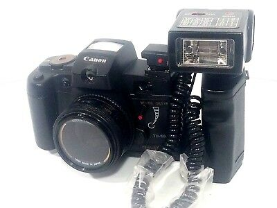 Vintage Canon 35mm Film Camera TC-5000 w/Self Timer & Flash!!.