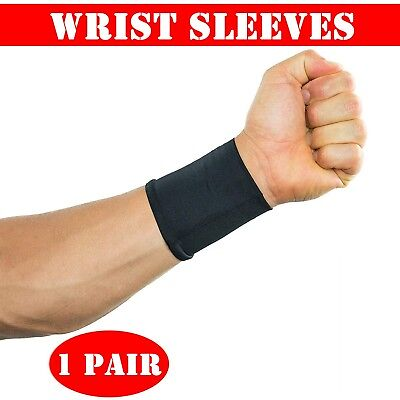 2x Compression Wrist Sleeves Arthritis Carpal Tunnel Muscle Joint Pain Relief