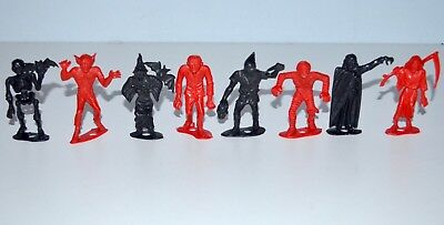 Vintage 1960s Mpc Monsters Red Black Playset Plastic Figures