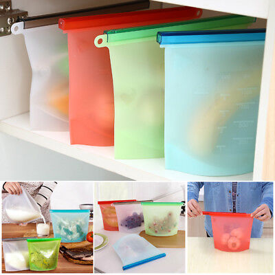 Vacuum Storage Seal Bag Silicone Reusable Refrigerator Freezer Food Preservation