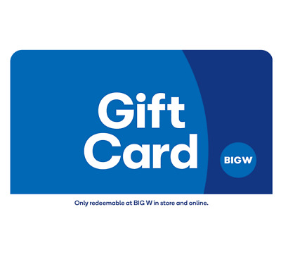 Big W Gift Card $25, $50, $100 - Email Delivery