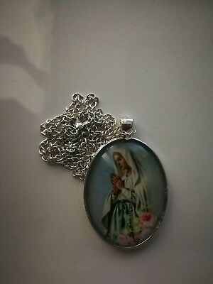 Code 470 Mother Mary xxl Necklace Confirmation Holy Communion Catholic Church